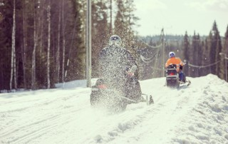 reckless snowmobile driving