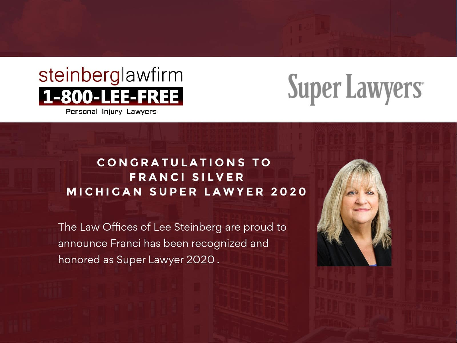 Steinberg Lawyer Franci Silver Ranked Among Michigan's Best