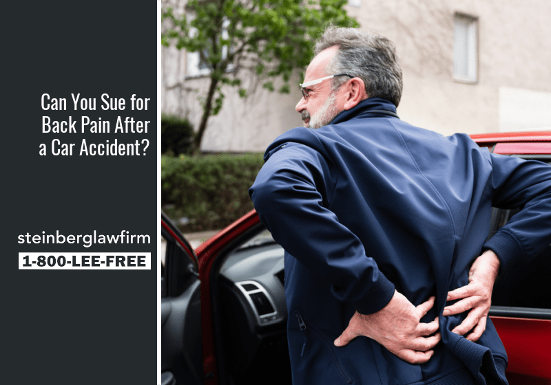 Can You Sue for Back Pain After a Car Accident?